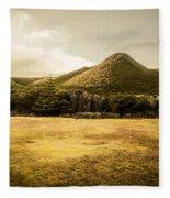 Tasmania West Coast Mountain Range Fleece Blanket