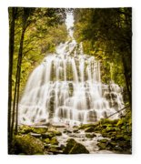 Tasmanian Waterfalls Fleece Blanket