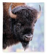 Tatanka Portrait Fleece Blanket