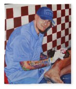 Tattoo Artist - Brandon Notch Fleece Blanket