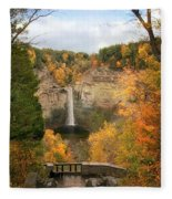 Taughannock Falls Splendor Fleece Blanket