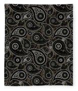 Taupe Brown Paisley Design Fleece Blanket