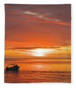 Taveuni Sunset Fleece Blanket