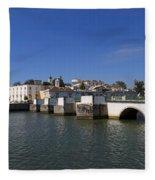 Tavira Ponte Romana And The River Fleece Blanket