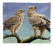 Tawny Eagles Fleece Blanket