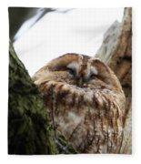 Tawny Owl Fleece Blanket