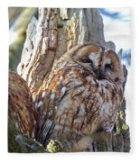 Tawny Owls Fleece Blanket