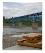 Taylor Peace River Bridge Fleece Blanket