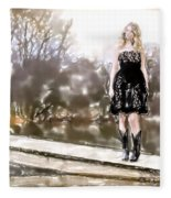 Taylor Swift Watercolor Fleece Blanket