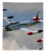 Tbirds Lockheed T-33 Shooting Star Fleece Blanket
