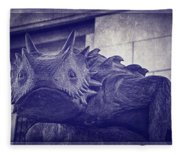 Tcu Horned Frog Purple Fleece Blanket