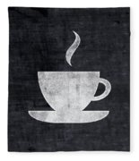 Tea And Coffee- Art By Linda Woods Fleece Blanket