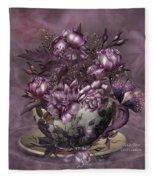 Tea And Roses Fleece Blanket