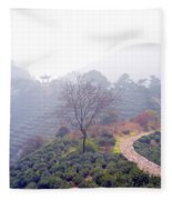 Tea Field Fleece Blanket