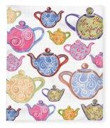 Tea For Two Fleece Blanket