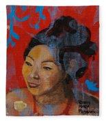 Tea Girl Fleece Blanket