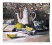 Tea With Lemon Fleece Blanket