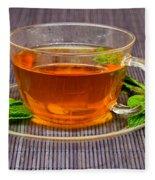 Tea With Mint Fleece Blanket