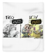 Teachers Then And Now Fleece Blanket