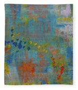 Teal Abstract, A New Look Again Fleece Blanket