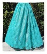 Teal Green Lace Skirt. Ameynra By Sofia Fleece Blanket