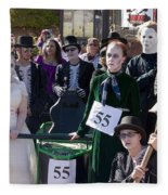 Team 55 At Emma Crawford Coffin Races In Manitou Springs Colorado Fleece Blanket