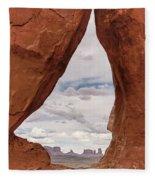 Teardrop Arch Monument Valley Fleece Blanket