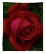 Teardrops Of A Rose Fleece Blanket