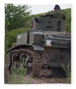 Tearing It Up - M3 Stuart Light Tank Fleece Blanket