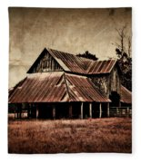 Teaselville Texas Barns Fleece Blanket