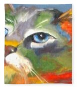 Technicolor Tabby Fleece Blanket