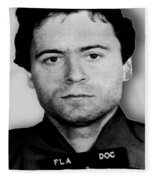 Ted Bundy Mug Shot 1980 Vertical  Fleece Blanket