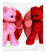 Teddy Bearz Valentine Fleece Blanket