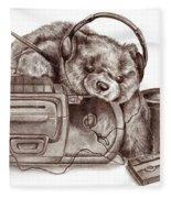 Teenage Bear Fleece Blanket