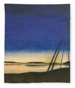 Teepee Poles Fleece Blanket