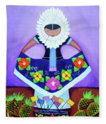 Tehuana Fleece Blanket