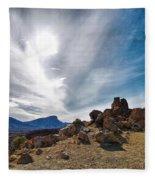 Teide Nr 9 Fleece Blanket