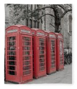 Telephone Boxes Fleece Blanket