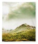 Temperate Alpine Terrain Fleece Blanket