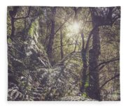 Temperate Rainforest Canopy Fleece Blanket