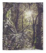 Temperate Rainforest Canopy Fleece Blanket