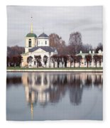 Temple And Bell Tower Fleece Blanket