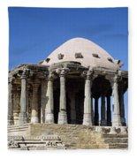 Temple At Fort Kumbhalgarh Fleece Blanket