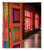 Temple Door Fleece Blanket