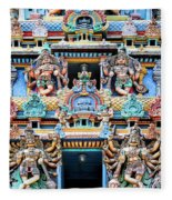 Temple Facade Chennai India Fleece Blanket