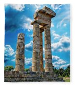 Temple Of Apollon Fleece Blanket