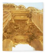 Temple Of Bacchus Fleece Blanket