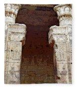 Temple Of Edfu I Fleece Blanket