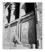 Temple Of Horus Fleece Blanket