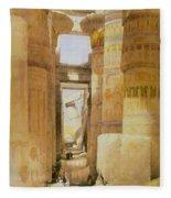 Temple Of Karnak  2 Fleece Blanket